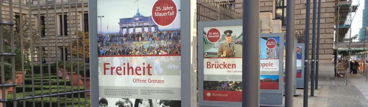 25 Jahre Mauerfall – Ausstellung vor dem Bundesrat