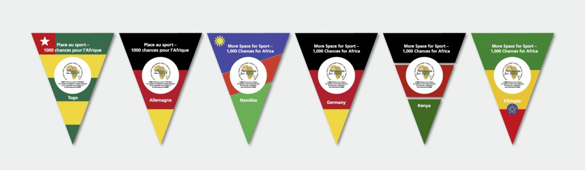 GIZ Togo Wimpel/Beachflags